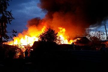Пожар в Шадринске по ул. 9 мая